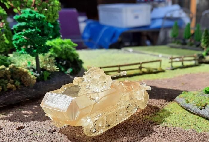Sd.Kfz. 251/17 Ausf. C mit einer 2-cm-Flak als Lutschpanzer im Maßstab 20mm / 1:72, ein 3D-Druck-Modell vom Dominic.
