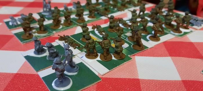 Die ersten Bases der British Infantry Company für PBI von Mark.