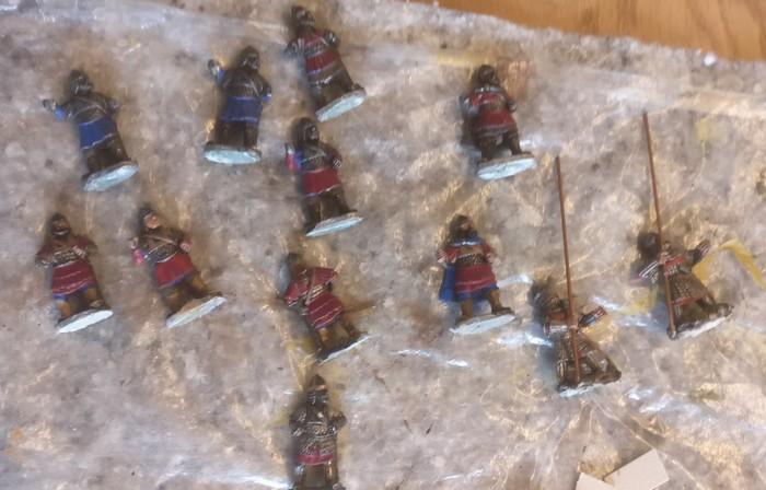 12 Byzantiner in 28mm für meine SAGA-Armee.