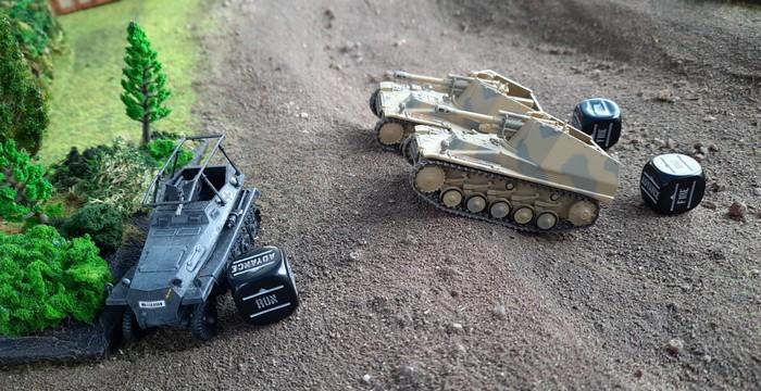 Dicht auf folgt die Panzerartillerie.