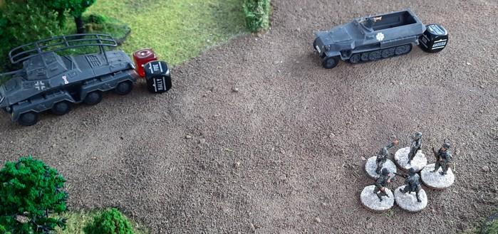 Hier hat ein Artillerieschlag der Roten Armee aufgeräumt.