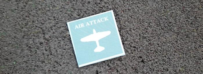 """Air Attack. Leider wurde die im Battlegroup Regelwerk geforderte """"5"""" nicht gewürfelt..."""
