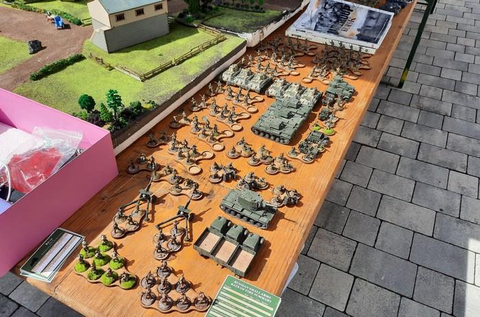 Die Truppen der Roten Armee beim Spiel nach Battlegroup Kursk