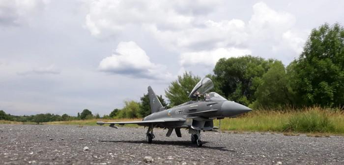 Eurofighter auf Flugfeld Nilkheim gelandet!
