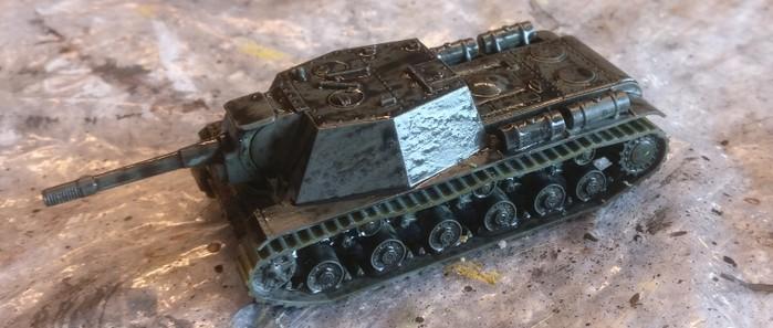 Das SU-152 nach dem Auftrag des Black Wash.