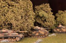 Das kleine Kursk: zwo Panzer III Ausf. L und ein Panzer IV Ausf. H in 15mm