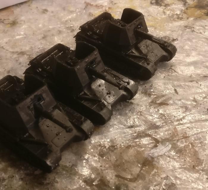 Der Panzerjäger I, wie er aus dem 3D-Drucker kommt...