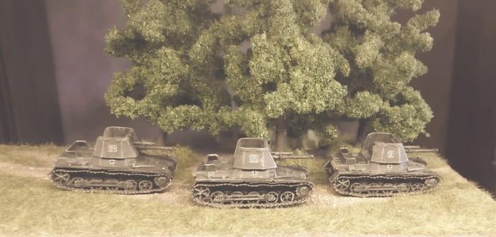 Drei Panzerjäger I aus dem 3D-Drucker für die Early-War-Armee