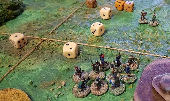 Hier leben Marks Krieger noch. Die Bauern im Hintergrund werden auch gleich noch einen verlieren.
