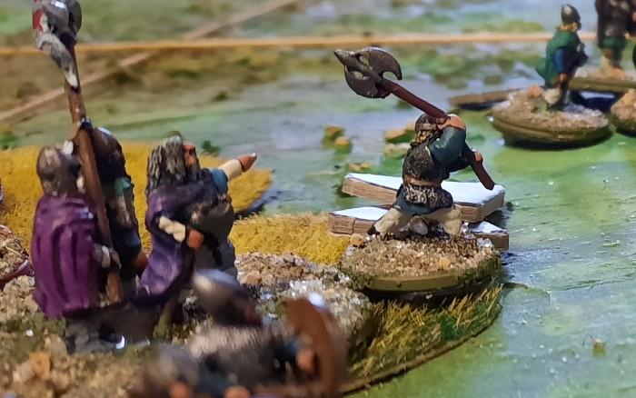 XENAs Wikinger 6-Punkte-SAGA-Armee mit Ragnar Lodbrok und seinem Champion (der mit dem doppelschneidigen Mörderbeil)