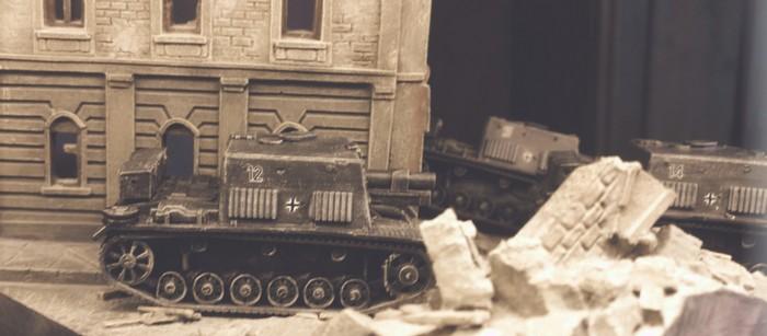 Erster Kampfeinsatz der drei StuIG 33B bei den Sturmgeschützabteilungen 177 und 244 in Shturmigrad.