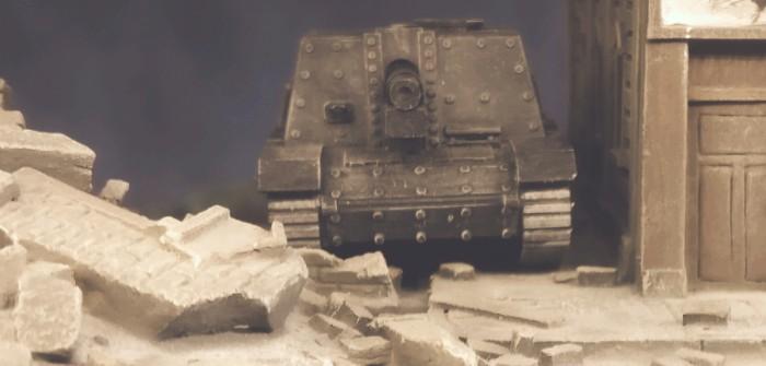 Drei Sturm-Infanteriegeschütz 33B aus dem 3D-Drucker für die Sturmgeschütz-Abteilung 177 und 244
