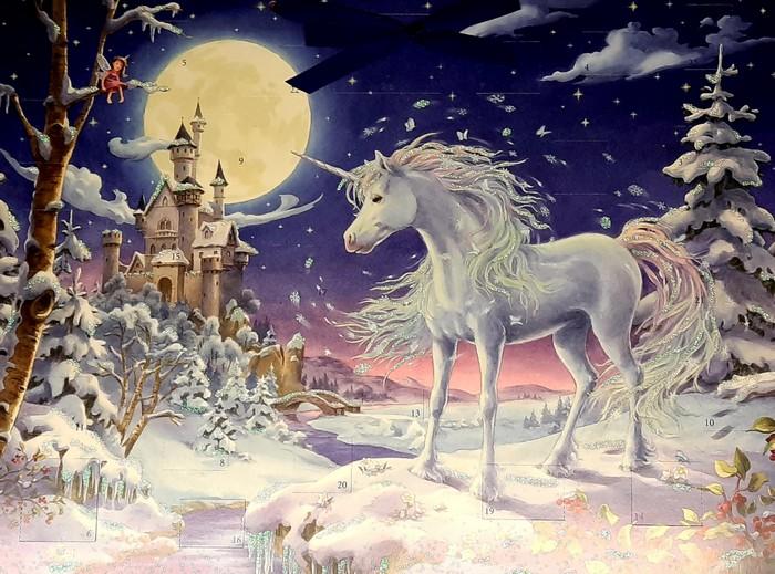 Der unikornische Adventskalender. Standesgemäß, wenngleich das Unicorn nicht so pink ist, wie es sein könnte. But: nothing to be concerned about...