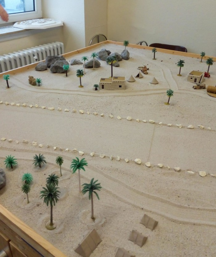 Tobruk Airfield als Szenario für das Battlegroup Game.