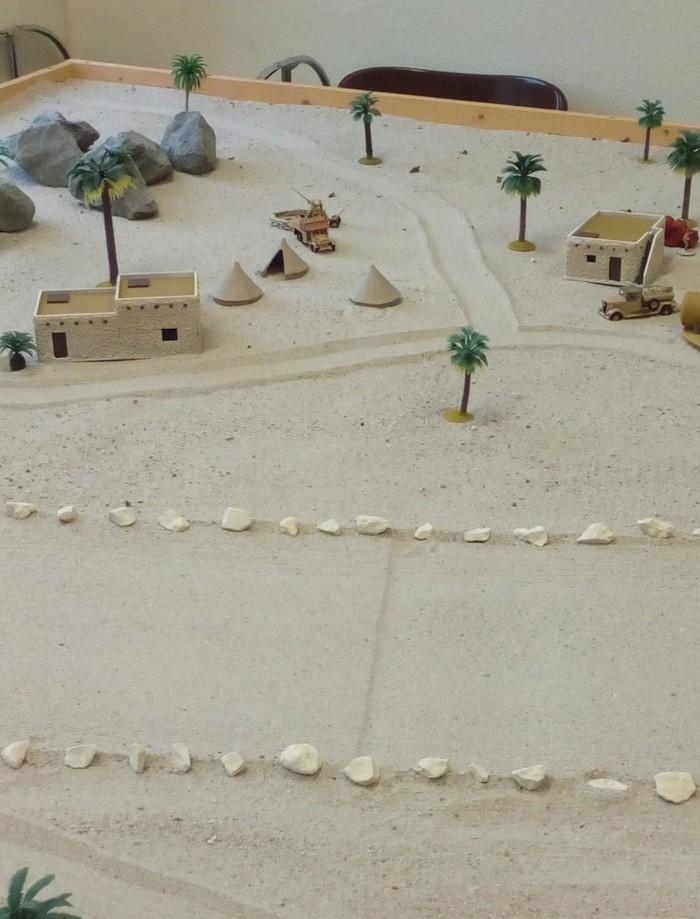 Die Start-/Landebahn des Flughafen Tobruk.