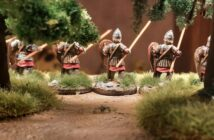 Byzantine Skutatoi advancing, Lammelar Armour: 8 Rekruten von Crusader Miniatures