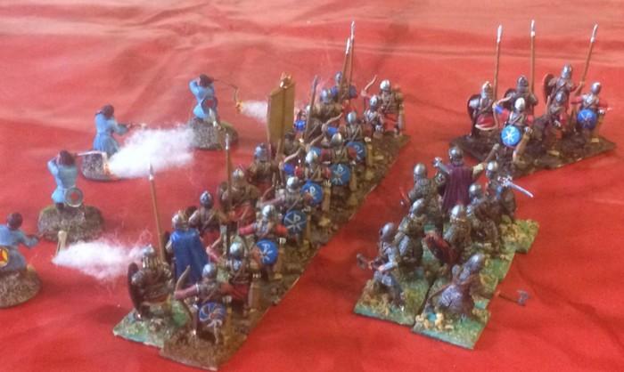 Eine Gefechtsformation der Byzantiner Armee von XENA