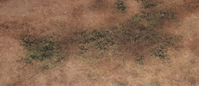 "Die Textur der Deep Cut Studios Game Mat ""Savanna"" im Detail."