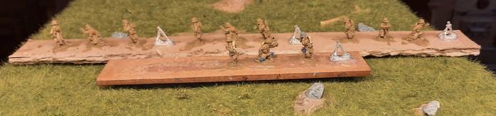 Die Granatwerfer der französischen Early War Infanterieeinheit.