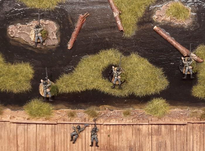 Die MG-Schützen beim ersten Ausgang in den Shturmigrader Stadtwald.