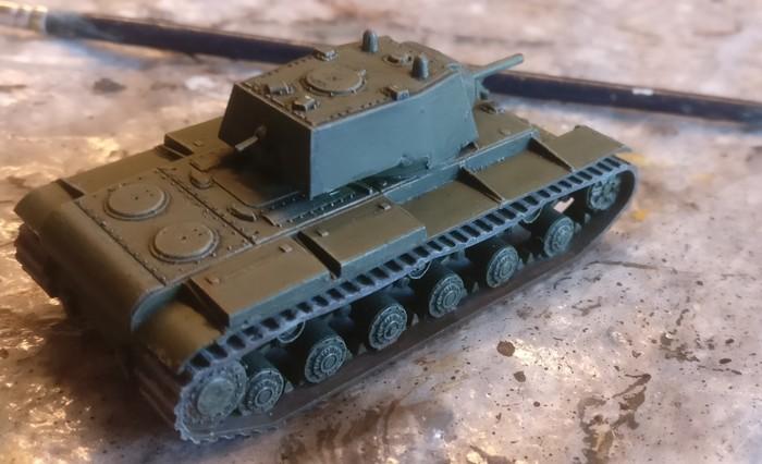 Der KV-I nach Abschluss der Bemalung.