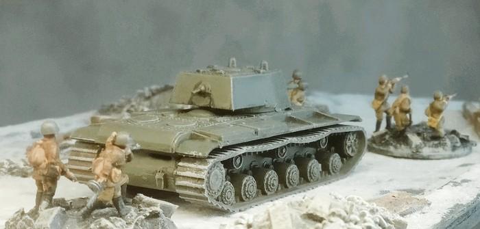 Noch ein KV-I von Zvezda in 15mm