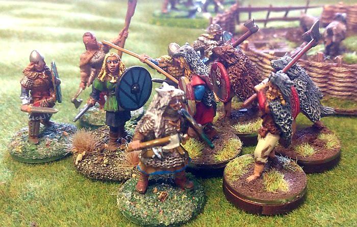 Das erste Gefecht: Mark greift mit seinen Berserkern die Schildmaiden von XENA an.