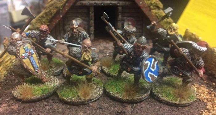 Die fertigen Vikings von Victrix. Na, was sagt ihr?