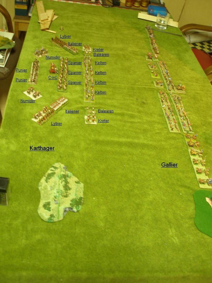 Die Startaufstellung der ARMATI-Partie Karthager gegen Kelten