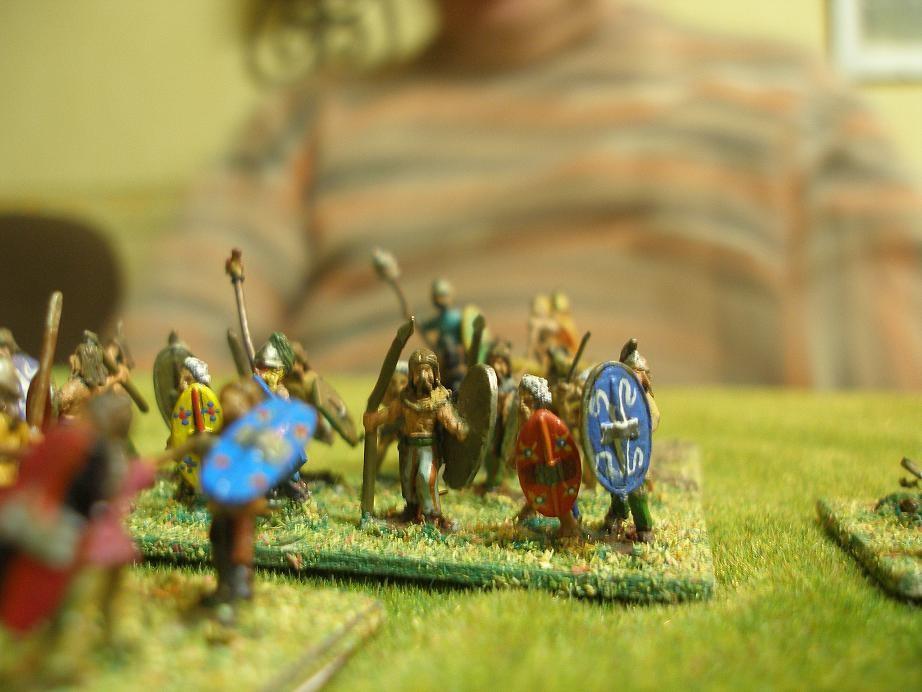 Die keltische Zweite Linie: die punischen Veteranen der Karthager erwarten die Attacke der keltische Reiterei...