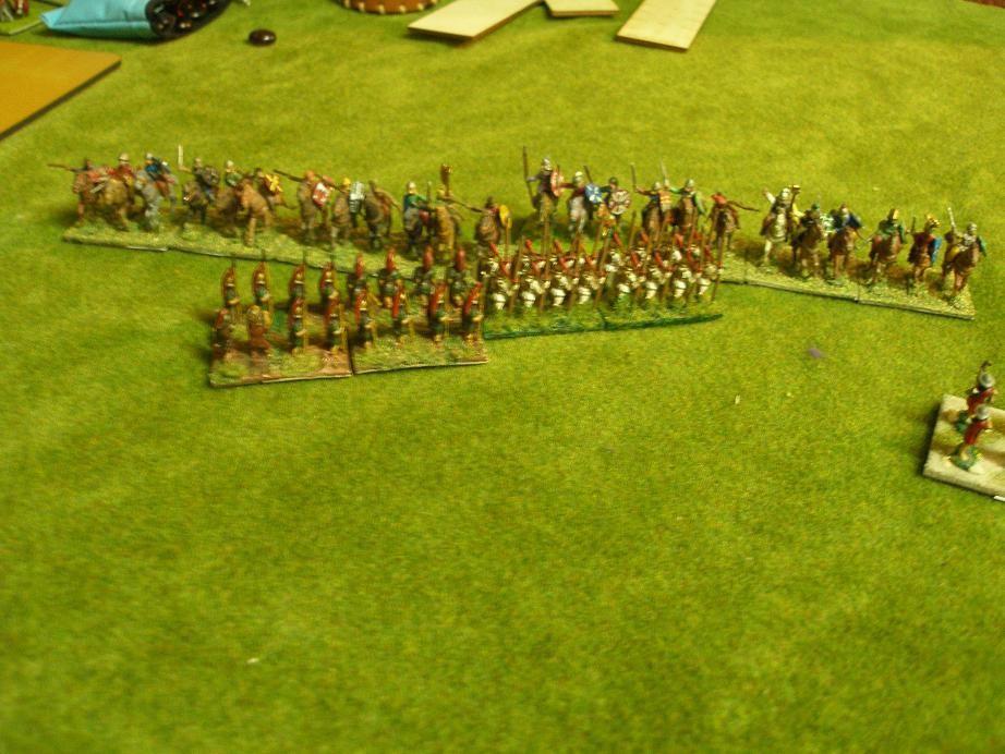 Linke karthagische Flanke, 12:30Uhr, der Aufprall steht kurz bevor..!