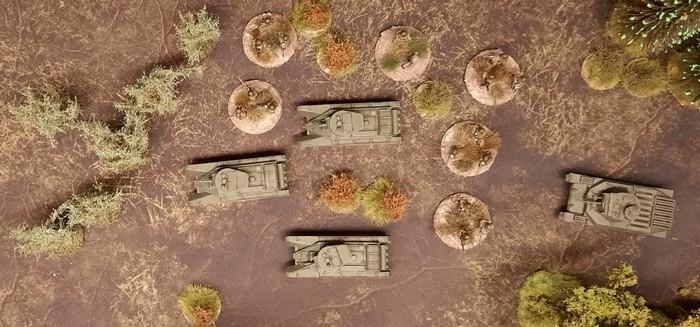 Eine schnelle Einheit der Roten Armee. Aufklärung mit BT-5?
