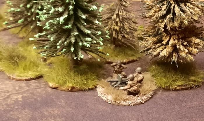 Am Tannenwald ist ein russisches Maxim-MG in Stellung gegangen.