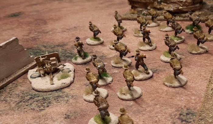 """Hier stürmt das 25th Battalion der 7th Division (Australien) über die Deep Cut Game Mat """"Savanna"""""""