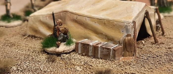 Ein Funker des 25th Battalion...