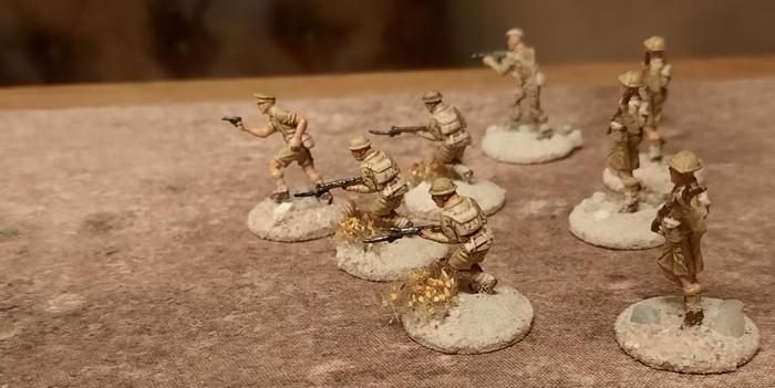 Ein Trupp der 5th Lancashire Fusiliers.