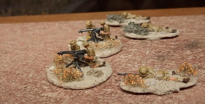 Die 5th Lancashire Fusiliers haben auch ein paar HMG dabei.