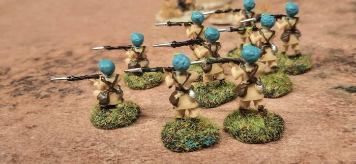 Die 11. indische Infanteriebrigade auf der Deep Cur Battle Mat Savanna