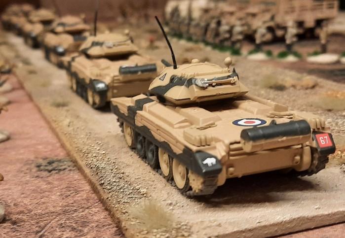 Einige Crusader des 3rd Royal Tank Regiment