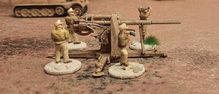 Eine Acht-Acht der 1. Batterie des Flak-Regiment 135
