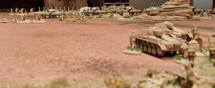 Blick von den deutschen Stellungen feindwärts.