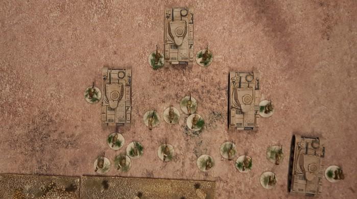 Einige Panzer II des Panzer-Regiment 8 unterstützen den Angriff des Schützen-Regiment 104