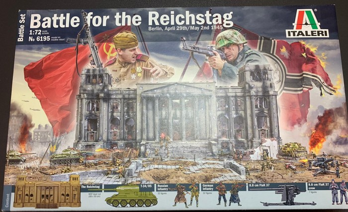 Unoxing: Italeri 6195: Battle for the Reichstag 1945 Battle-Set