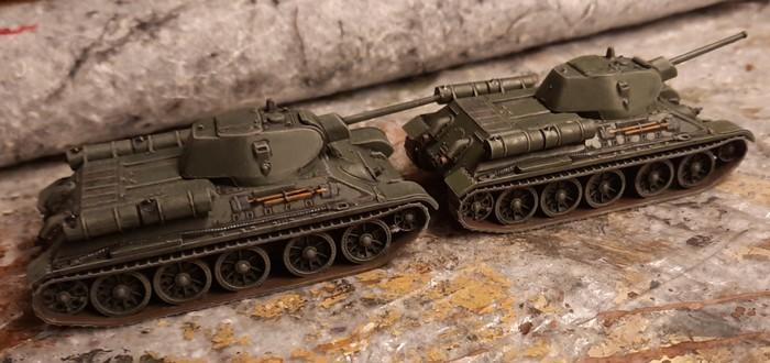 "Die fertigen Italeri 7523 ""T-34/76"""