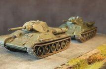 "Die beiden Italeri 7523 ""T-34/76"" aus dem Stalingrad-Set"