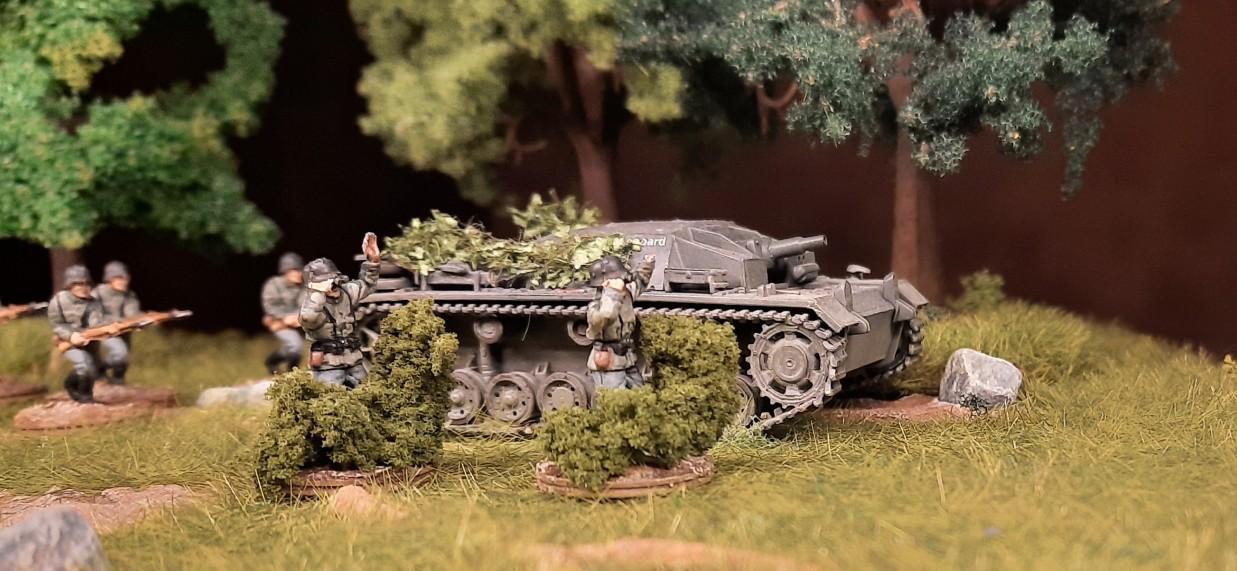 Erster Einsatz im Feld - naklar mit StuG III.