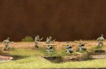 Offiziere und Support für das Infanterie-Regiment 510
