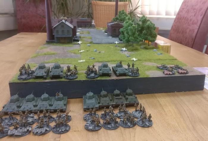 Das Spielfeld aus der Perspektive des 12. Garde-Panzerkorps betrachtet.