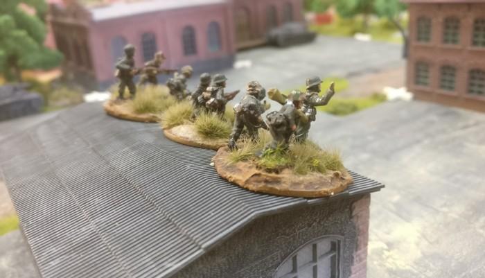 Das 2. Platoon auf der rechten Flanke.