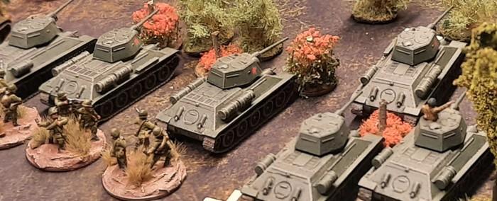 Reserve der 6. Garde-Schützendivision: die T-34/76 der 96. Panzerbrigade